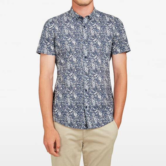 FLORAL SLIM FIT SHIRT  MARINE BLUE  hi-res