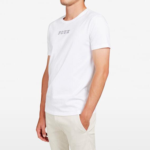 FCUK LOGO T-SHIRT  WHITE  hi-res