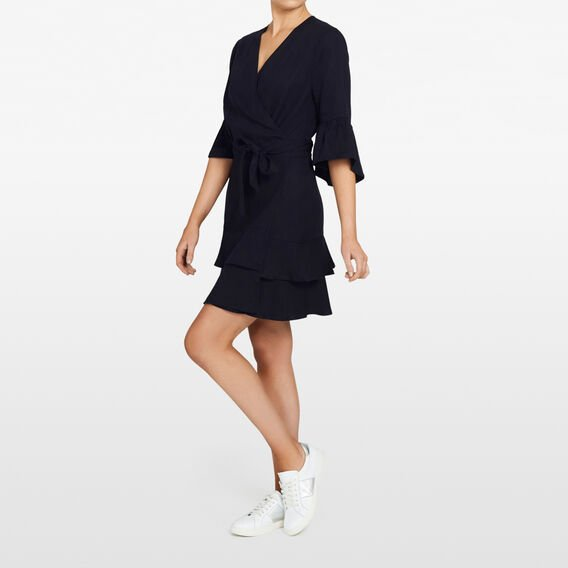 TENCEL WRAP DRESS  NOCTURNAL  hi-res