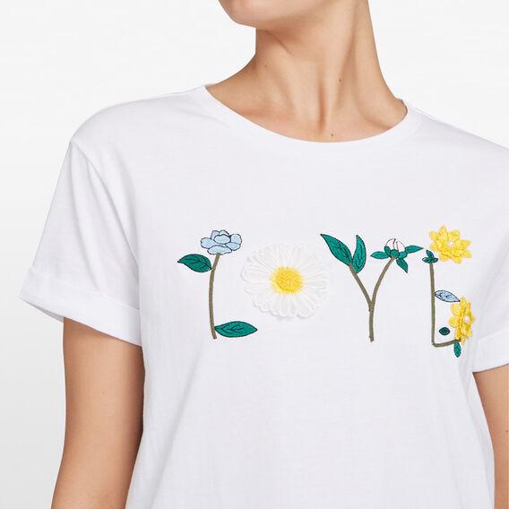 FLOWER LOVE TEE  SUMMER WHITE/MULTI  hi-res