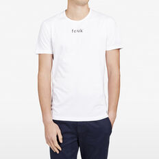ORIGINAL FCUK LOGO CREW NECK T-SHIRT  WHITE  hi-res