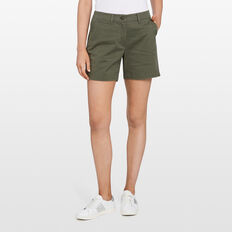 KARLA COTTON SHORT  KHAKI  hi-res