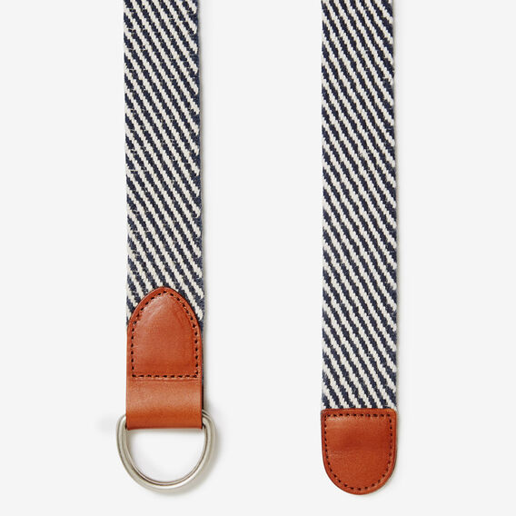 CAPTAIN STRIPE D-RING BELT  NAVY/WHITE  hi-res