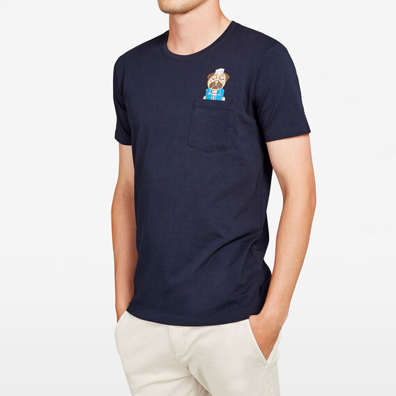 SAILOR DOG CREW NECK T-SHIRT  MARINE BLUE  hi-res