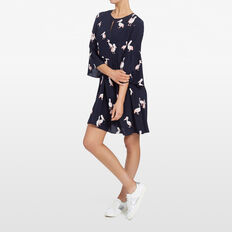 PELICAN PRINTED DRESS  NOCTURNAL/PINK/MULTI  hi-res