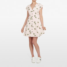 COCONUT TREE TEA DRESS  PASTEL PINK/MULTI  hi-res