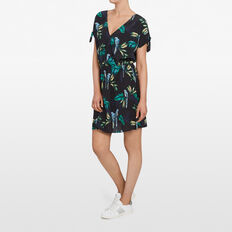 PARADISE PRINT DRESS  BLACK/MULTI  hi-res