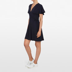 WRAP JERSEY DRESS  NOCTURNAL  hi-res