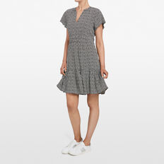 ABSTRACT SPOT DRESS  BLACK/SUMMER WHITE  hi-res