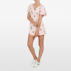 COCONUT TREE PLAYSUIT  PASTEL PINK/MULTI  hi-res