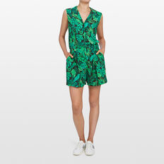LEAF PRINTED PLAYSUIT  MULTI  hi-res