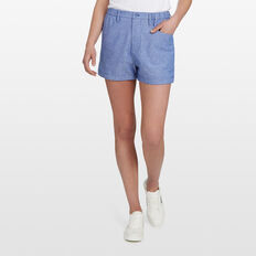 LINEN SHORT  CHAMBRAY  hi-res