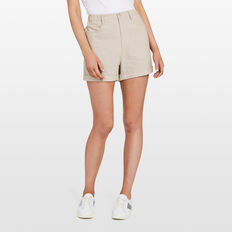 LINEN SHORT  NATURAL  hi-res