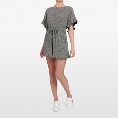 ABSTRACT SPOT PLAYSUIT  BLACK/SUMMER WHITE  hi-res