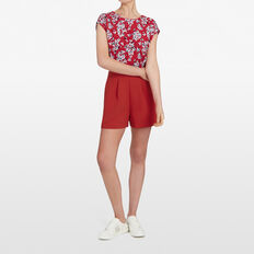 MICRO FLORAL SPLCIED PLAYSUIT  MULTI  hi-res