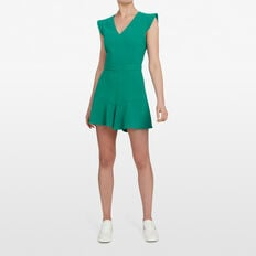RUFFLE HEM PLAYSUIT  LEAF GREEN  hi-res