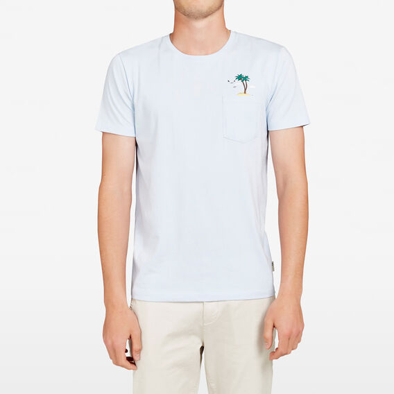 ISLAND POCKET CREW NECK T-SHIRT  SKY BLUE  hi-res