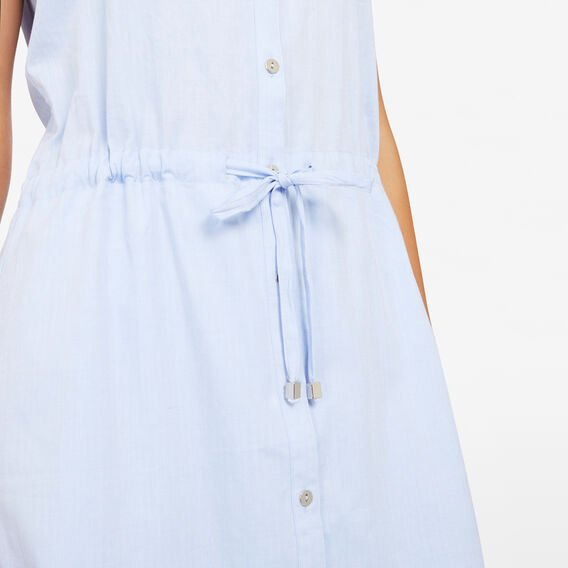 CASUAL SHIRT DRESS  LIGHT BLUE  hi-res