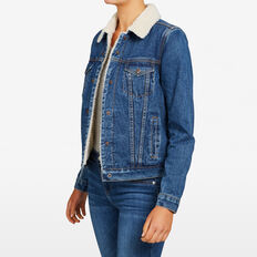DENIM SHEARLING JACKET  STONE WASH  hi-res