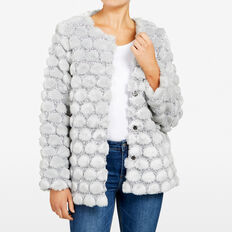 FLUFFY SPOT JACKET  LIGHT GREY  hi-res