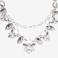DECO JEWEL NECKLACE  SILVER  hi-res
