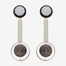 GEO DROP EARRINGS  LIGHT GOLD  hi-res