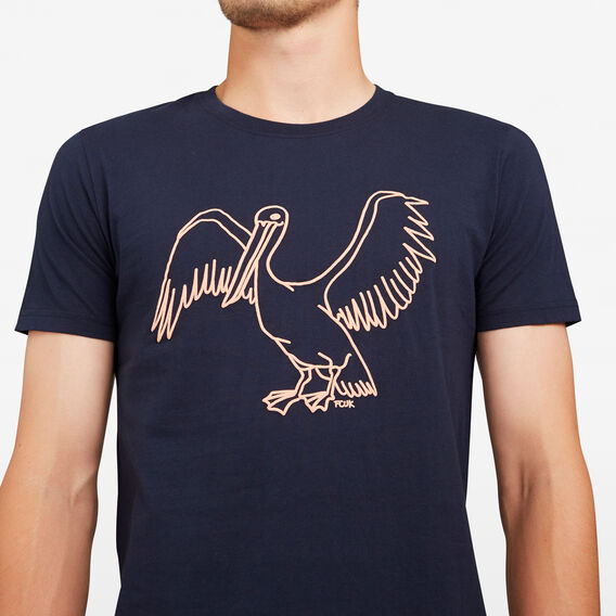 FLYING PELICAN CREW NECK T-SHIRT  MARINE BLUE  hi-res