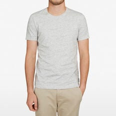CLASSIC CREW NECK T-SHIRT  GREY MARLE SPECKLE  hi-res
