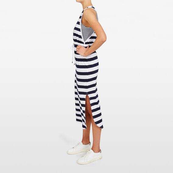STRIPE JERSEY MAXI DRESS  SUMMER WHITE/NOCTURN  hi-res