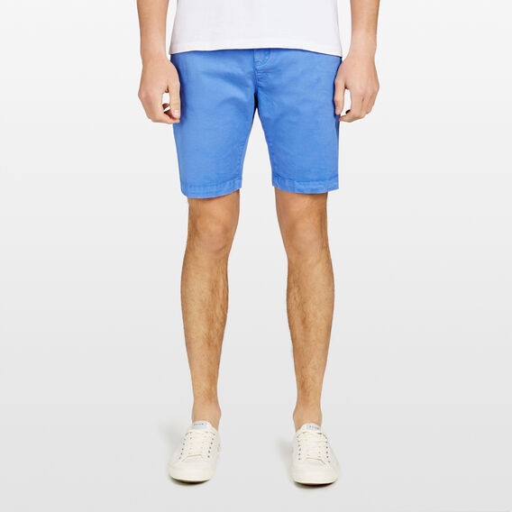 CHARLIE STRETCH CHINO SHORT  OCEAN BLUE  hi-res