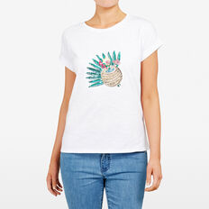 COCONUT COCKTAIL SEQUIN TEE  SUMMER WHITE  hi-res