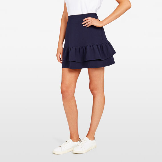 DOUBLE TIERED SKIRT  NOCTURNAL  hi-res