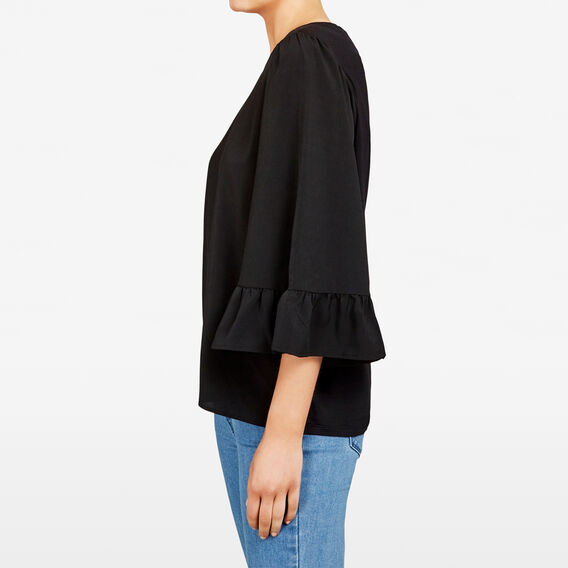 SPLICED BELL SLEEVE TEE  BLACK  hi-res
