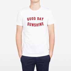 GOOD DAY SUNSHINE CREW NECK T-SHIRT  WHITE  hi-res