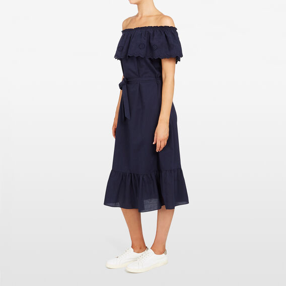 LACE TIERED MIDI DRESS  NOCTURNAL  hi-res