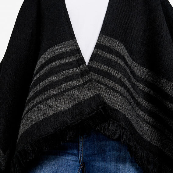 BLANKET PONCHO  BLACK/CHARCOAL  hi-res