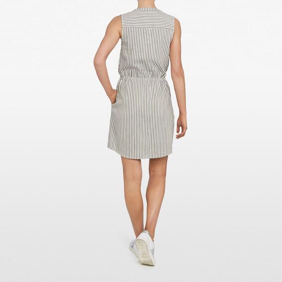 STRIPE DRESS  KHAKI/SUMMER WHITE  hi-res