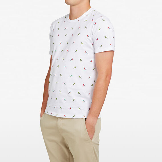 ALL OVER BIRD T-SHIRT  WHITE  hi-res