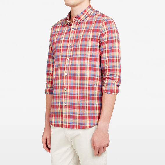 SORRENTO CHECK REGULAR FIT SHIRT  RED CHECK  hi-res