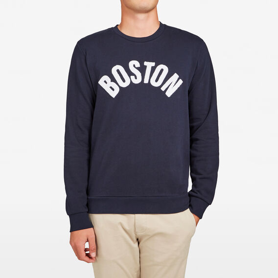 BOSTON CREW NECK SWEAT  MARINE BLUE  hi-res