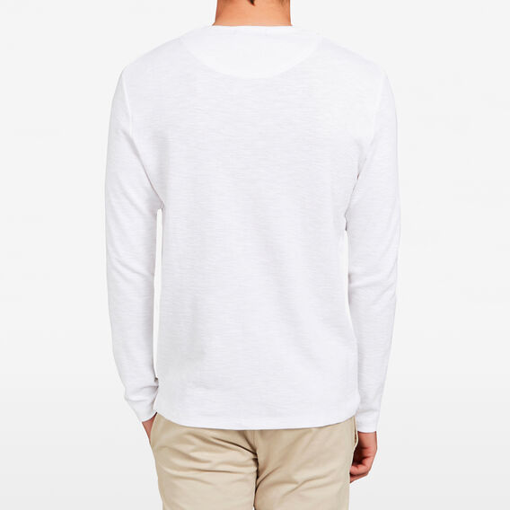 WAFFLE LONG SLEEVE T-SHIRT  WHITE  hi-res