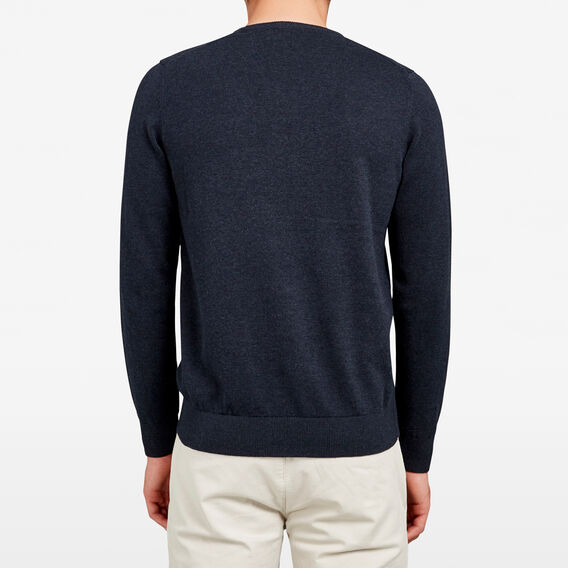 COTTON PORTRAIT V-NECK KNIT  MARINE BLUE  hi-res