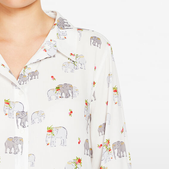 ELEPHANT PRINTED SHIRT  SUMMER WHITE MULTI  hi-res