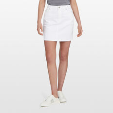 WHITE DENIM MINI SKIRT  SUMMER WHITE  hi-res