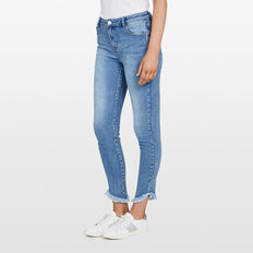 FRAYED HEM JEAN  STONE WASH  hi-res