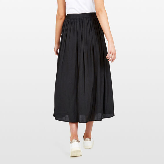 MIDI SKIRT  BLACK  hi-res