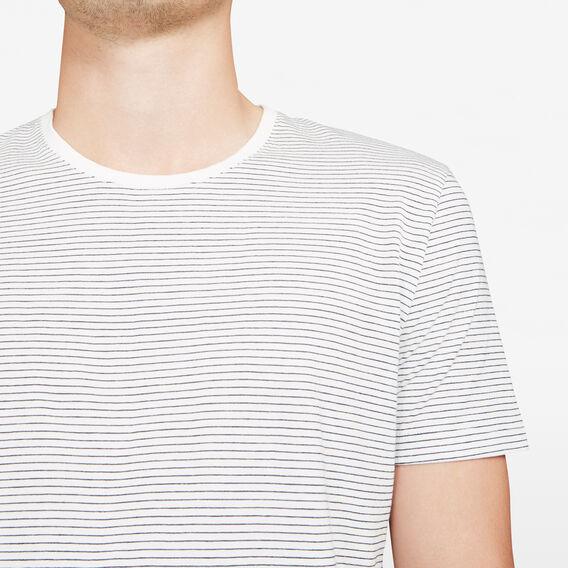 CLASSIC STRIPE CREW NECK T-SHIRT  NAVY/WHITE  hi-res