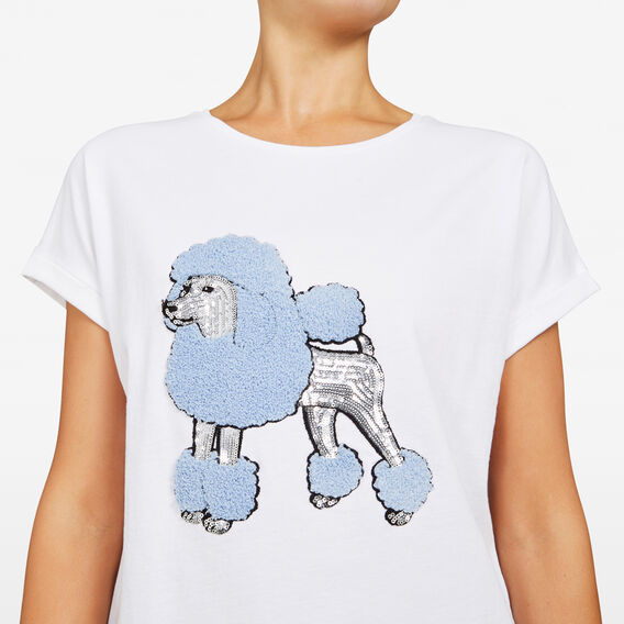 POODLE PLACEMENT SWEAT  SUMMER WHITE/LT PINK  hi-res