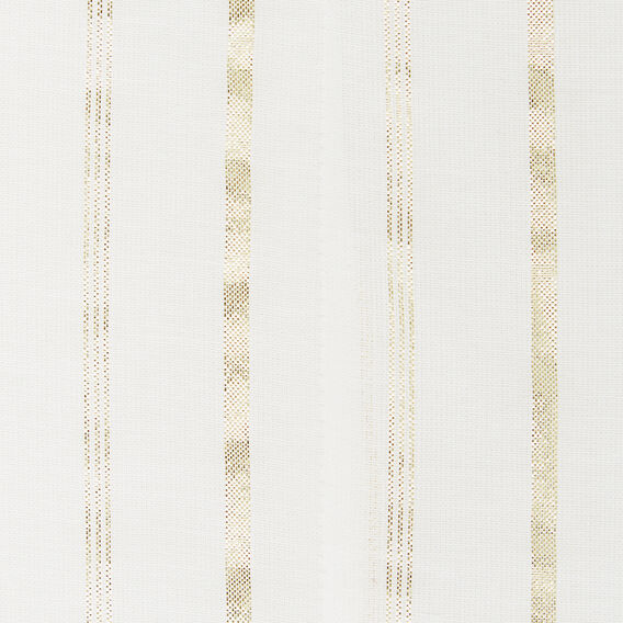 BABYDOLL GOLD STRIPE TEE  WINTER WHITE/ GOLD  hi-res