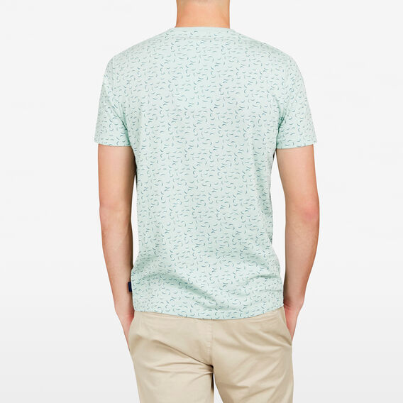 LANIKAI MINI PRINT CREW NECK T-SHIRT  SPEARMINT  hi-res